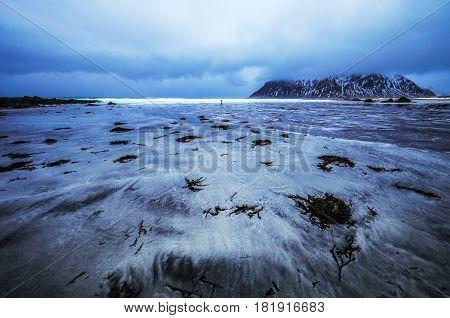 Lofoten islands. Beautiful Norway spring landscape photo.