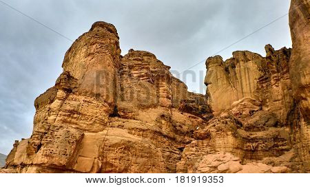 View of red canyon Desert Negev. Israel