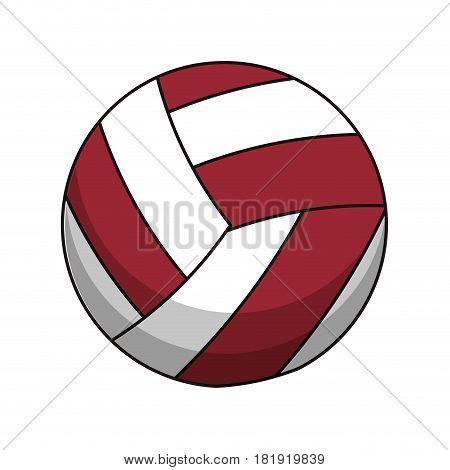 volleyball ball sport image vector illustration eps 10