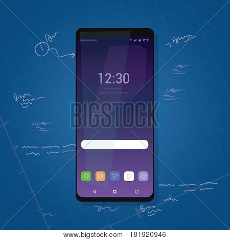 bezel less smart phone new gadget review with small edge vector