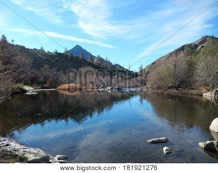 Kern River which is located outside of Kernville, California