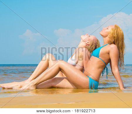 Relaxating on a Beach In Bikini