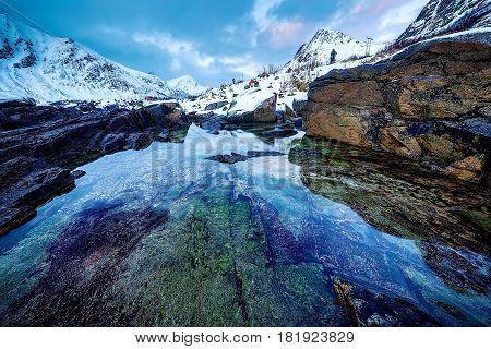 Lofoten islands. Beautiful Norway landscape and nature.