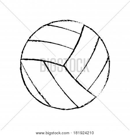 volleyball sport game icon sketch vector illustration eps 10