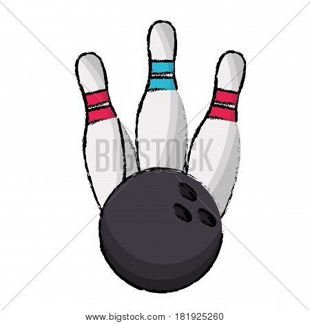 bowling pin sport ball vector illustration eps 10