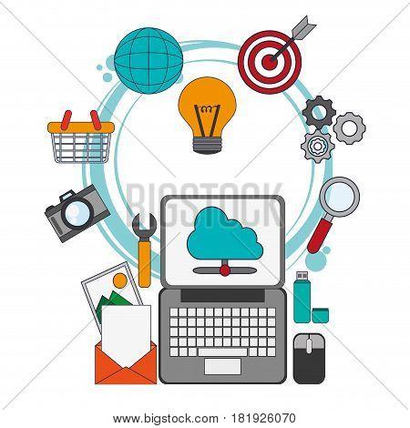 digital marketing placement optimize work vector illustration eps 10