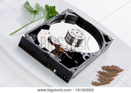 Hard Disk On A Dish