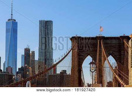 The Brooklyn Bridge In The United States.