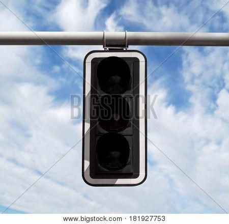 Traffic Light - Off Against Sky