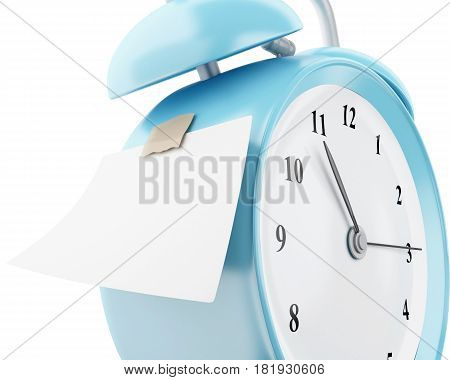 3D Alarm Clock With Empty Sticky Paper