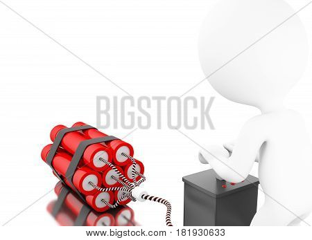 3D White People Detonating A Bomb