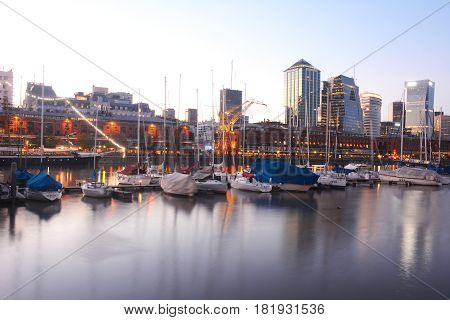 Puerto Madero Neighborhood In Buenos Aires.