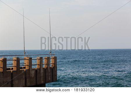 Beach Ocean Pier Fishing Rods