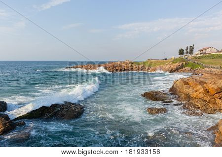 Beach Rocky Coastline Ocean Waves