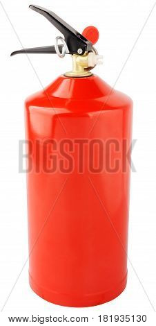 Fire extinguisher isometric view isolated on the white background