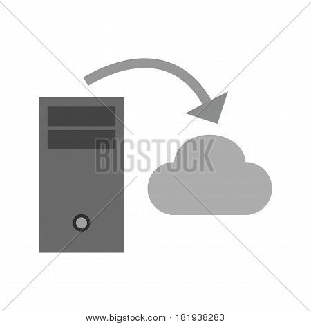 Cloud, storage, hosting icon vector image. Can also be used for business administration. Suitable for use on web apps, mobile apps and print media.