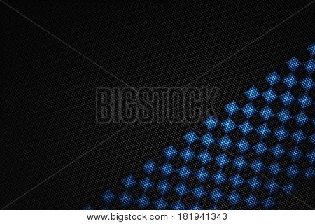 Blue And Black Carbon Fiber Background.