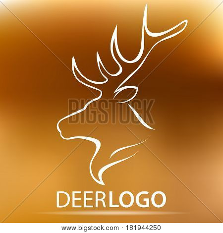 Vector deer head logo for your design. Vector Stock illustration