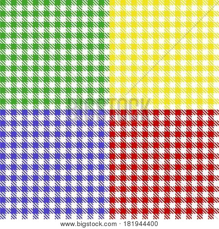 Tablecloth of squares. Flat design vector illustration vector.