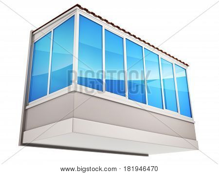 Balconies And Blue Glass