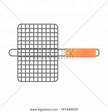 Vector illustration of the small minimalistic grid isolated on white.