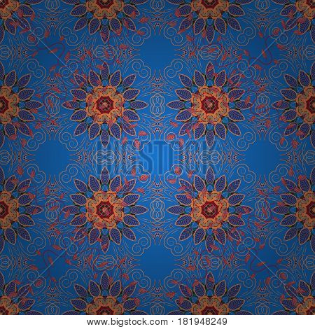 Endless vector texture for romantic design decoration greeting cards posters wrapping for textile print and fabric. Floral seamless pattern with bright summer flowers in colors.