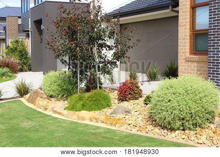 Modern custom built homes in residential neighborhood