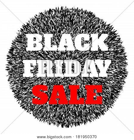 Black friday sale abstract banner. Vector illustration