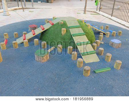 Freshly Painted Playground Mound