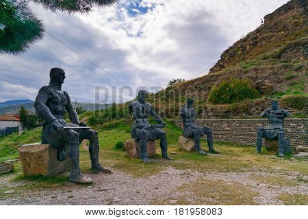 Memorial Of Georgian Warrior Soldiers By The Gori Fortress. Georgia