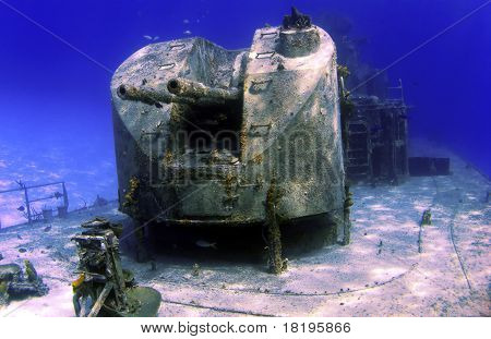 Guns On The Deck Of A Sunken Ship