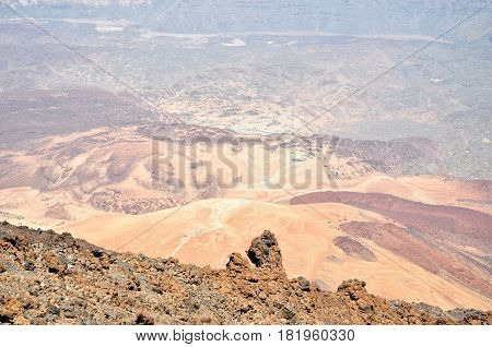 View from volcano Teide. Tenerife island, Spain