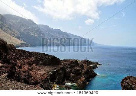 Tenerife island, Spain, View of  Playa los Gigantes