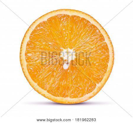 Fresh Orange Fruit Isolated