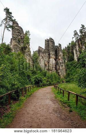 Rock pillar nature park in the Czech Republic.