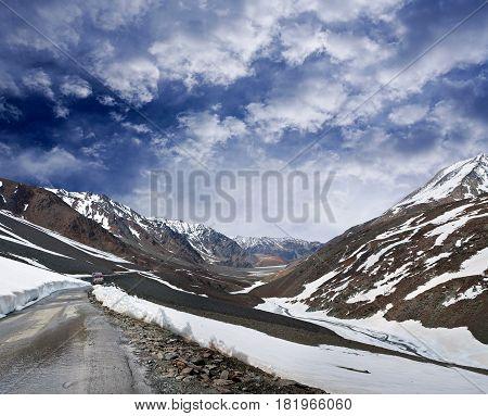 Manali - Leh Road In Jammu And Kashmir, India