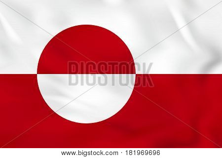 Greenland Waving Flag. Greenland National Flag Background Texture.