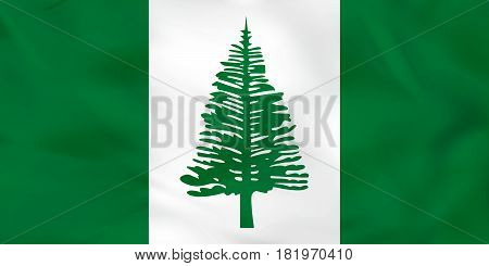 Norfolk Island Waving Flag. Norfolk Island National Flag Background Texture.