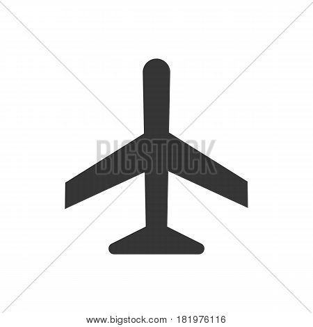 airplane icon on the white background. Vector llustration
