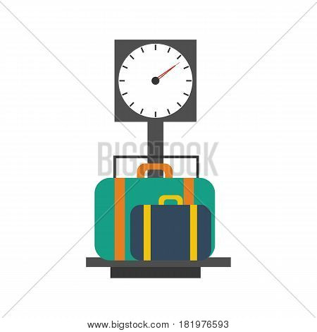 Baggage scales on the white background. Vector llustration