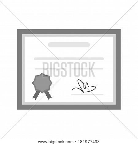 Diploma, certificate, web icon vector image. Can also be used for web interface. Suitable for use on web apps, mobile apps and print media.