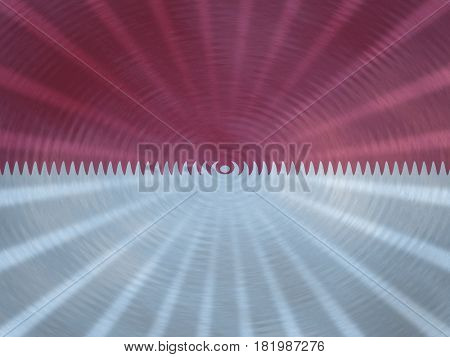 Indonesia flag background with ripples and rays illustration