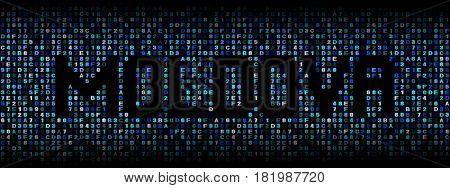 Moldova text on hex code illustration