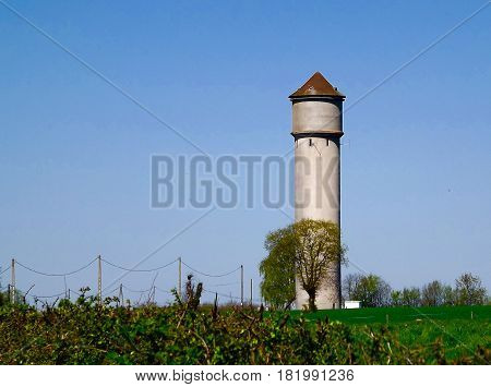 Water tower (chateau d'eau) in rural central France