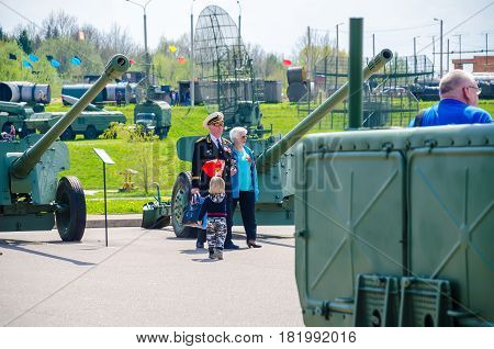BELARUS MINSK - MAY 07/2016: In the historical and cultural center