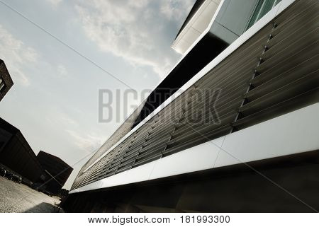 Contemporary exterior design. Modern architecture in Hamburg Germany