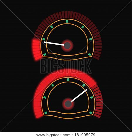 Sign colorful speedometer. Vector logo for web design, mobile and infographics.