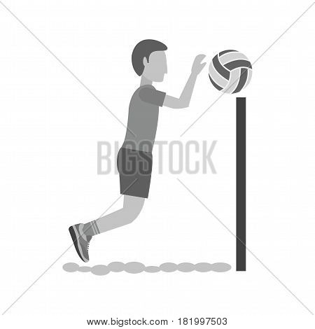 Beach, ball, net icon vector image. Can also be used for olympics. Suitable for mobile apps, web apps and print media.