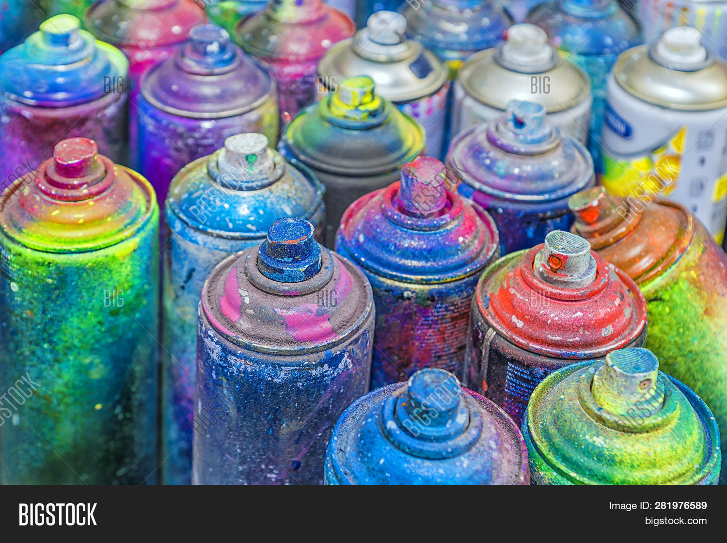 Used Cans Spray Paint Image & Photo (Free Trial) | Bigstock