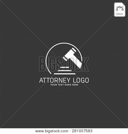 Elegant Attorney Logo Line Design Template Vector Illustration
